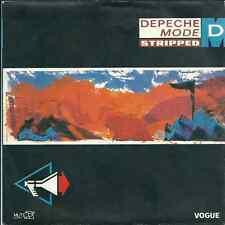 """Depeche Mode - Stripped (7"""") 1986 label pvc bleu FRANCE"""