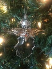 """New Kurt Adler 4.5"""" Faux Crystal Angel With Metal Wings Christmas Ornament!"""