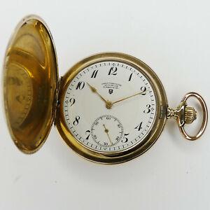 Uhrenfabrikation Otto Estler Glashütte Double Taschenuhr um ca. 1900 sehr selten