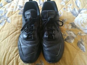 New Balance Men's Black Leather Trainers Size 10