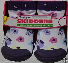 SkidDers White Purple Flower Girls Low Top Shoes Size 24 months or 8 NWT
