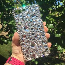 For iPhone SE / 5 CHUNKY CRYSTAL Clear Bling Back Case made w/Swarovski Crystals