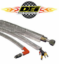 "DEI 010418 HEAT SHEATH ALUMINIZED SLEEVING 1/2"" x 3' 36"" CAR WIRE HOSE SHIELDING"