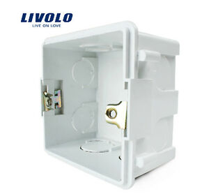 Wall Mounting Box For UK Standard Light Touch Switch White Plastic Materials New