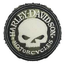 Harley-Davidson Genuine Camo Willie G Skull Frayed Emblem Patch, 3.5 inch