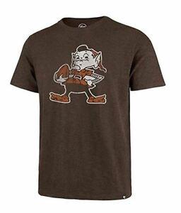 Cleveland Browns Men's Super Rival Throwback Logo T-Shirt - Brown
