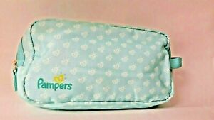 Pampers Hearts travel pouch multicolored Holds diaper, wipes etc Zip Up Bag