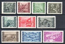 ISTRIA LITORALE SLOVENO 1946 - OCC.JUGOSLAVA TIR. ZAGABRIA SERIE CPL.10 VAL. MH*