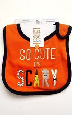 "NWT CARTER'S Teething Bib HALLOWEEN Orange ""So Cute It's Scary"" Costume Baby NEW"