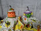 As is shaking witch pumpkin Halloween hanging vintage