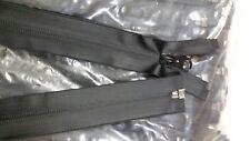 Solide noir imperméable à glissière à fermer fin 8//10 in environ 25.40 cm Finition mate avec YKK curseurs