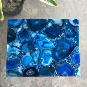 45.7cm x 38.1cm Ágata Lado Esquina Table Top Pietradura Handmade Arte Work Hogar
