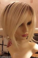 Ladies womens Zyr blonde with dark roots modern fashion wig classic cap New.