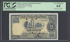Scotland Limited 5 Pounds 1-7-1949 Specimen PS644s Uncirculated