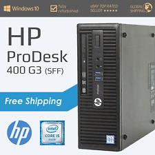 HP ProDesk 400 G3 PC - Intel i5 6th Gen - 128GB SSD - 8GB DDR4 RAM - Windows 10