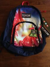 """NWT Trans by Jansport Backpack w/ 15"""" Laptop Sleeve - Sunshine Through Palms"""