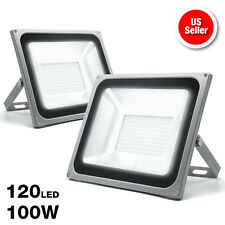eTopLighitng |2-Pack| Outdoor LED Flood Light 100W Volts Cool White 6500K