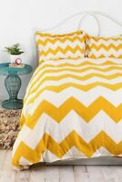 Duvet Cover Urban Outfitters Zigzag Full QUEEN Gold Chevron Assembly Home