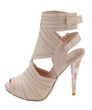 Cream Strapy Stiletto Heels, EU Size 39, Cream Heels, Cream High Heels,