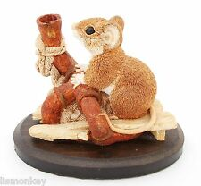 Mouse Drinking Figurine  Mouse Ornament Country Artists Figure 01062