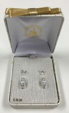 Disney Parks Mickey Mouse Cubic Zirconia Silver Stud Earrings Set New in Box
