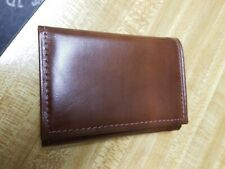 Di Lido Trifold Men's Brownwood cowhide Leather Wallet - New no box