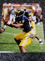 TY LAW AUTOGRAPHED UNIVERSITY OF MICHIGAN WOLVERINES FOOTBALL 8X10 PHOTO