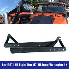 For 2007-2015 Jeep Wrangler LED Light Bar Windshield Upper Mounting Bracket 50''
