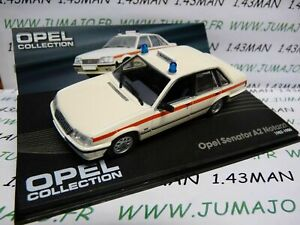 OPE42 voiture 1/43 IXO OPEL collection SENATOR A2 Notarzt croix rouge ambulance