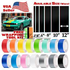 Gloss Racing Stripes Vinyl Wrap For Dodge Challenger Sticker 25FT / 50FT Long
