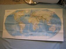 THE WORLD MAP National Geographic October 1992 MINT