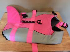 Queenmore Dog Life Jacket, Ripstop Life Vest, Medium Pink Shark Design