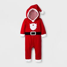 Baby Boys' Santa Suit Hooded Long Sleeve Romper - Cat & Jack™ Red sz 18 mo new