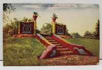 St Paul Minnesota Gates Ajar, Como Park Colorized Postcard c1910