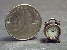 Dollhouse Miniature Alarm Clock Bronz Metal D 1:12 inch scale F68 Dollys Gallery