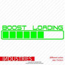 boost loading 15x3cm Aufkleber Sticker JDM Tuning Fun Auto Car OEM Turbo