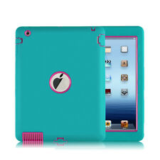 US Shockproof Heavy Duty Armor Defender Protect Case Cover For Apple iPad 2/3/4