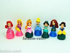 Lot 7 pcs Princess Snow White Aurora Belle Cinderella Action figures Cake Topper