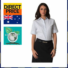 Career Short Sleeve Button Down Shirt Regular Tops & Blouses for Women