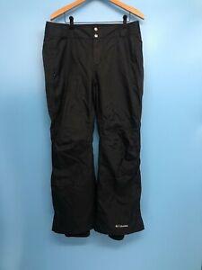 Excellent COLUMBIA Women's Black Waterproof Breathable Ski Snow Pants  L Short