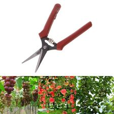 Curved Stainless Steel Garden Secateurs Hand Pruner Flower Branch Trimmer Cutter
