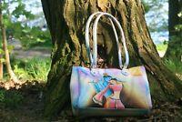 Designer Handtasche Krishna Handbemalt Tragetasche Leder Damentasche Unitkat