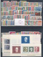 BRD - Jahrgänge 1960  bis  1969 - postfrisch, inkl. Blockeinzelmarken