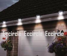 6X LED White Solar Power Powered Outdoor Garden Light Gutter Fence Wall Bracket