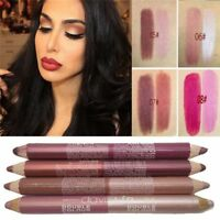 Moisturizer Matte Waterproof Lip Stain Double Color Lip Liner Lipstick Pencil