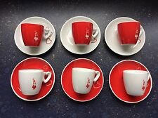 Bialetti Set Of 6 espresso cups HEARTS, IDEAL GIFT!