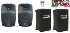 "Proel Italian Stage P108A MKII Casse BI Amplificate Diffusori Audio 8"" + Cover"