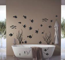 Bad Deko Wandtattoo XXL Set Unterwasserwelt Fische Badezimmer WC Fliesen Dusche