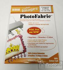 "BLUMENTHAL - Printable Fabric Photo Printing - 8.5x11"" - Cotton Twill - 5 Sheets"