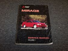 1999 Mitsubishi Mirage Workshop Shop Service Repair Manual Vol1 DE LS 1.5L 1.8L